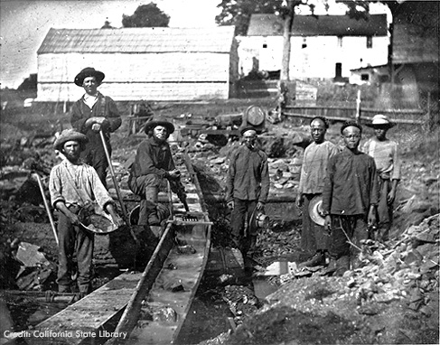 gold rush california 1849. California Gold Rush miners at